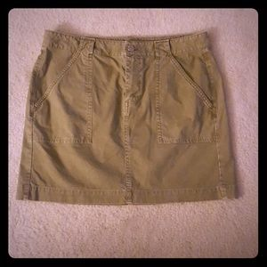 Madewell khaki skirt